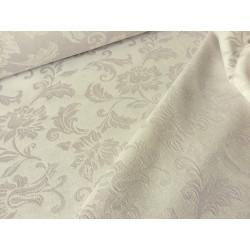 Tkanina obrusowa - jasno-szara - kwiaty