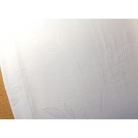 Biały obrus - gałązki podkład 220x140