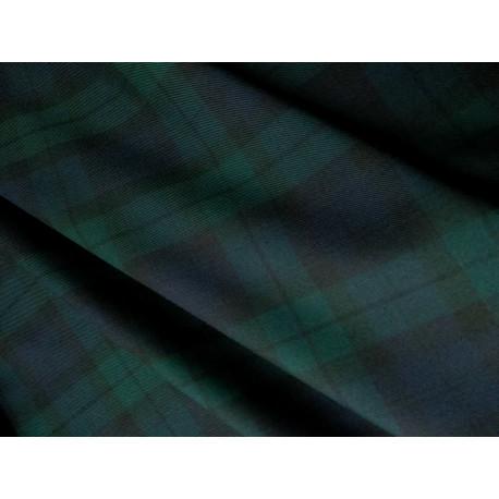 Krata szkocka - zielono-czarna