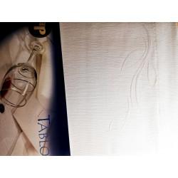 Biały obrus - żmijki - podkład 160x130