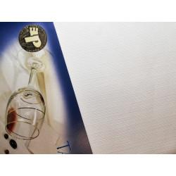 Biały obrus - lniany - ząbek 220x140