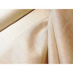 Tkanina obrusowa - biała ze złotą nitką