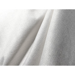 Tkanina obrusowa - biała ze srebrną nitką
