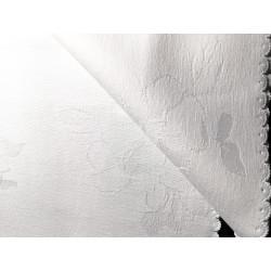 Biały obrus - kwiaty - zabek 280x140