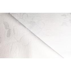 Biały obrus - kwiaty - podkład kopertowy 340x150