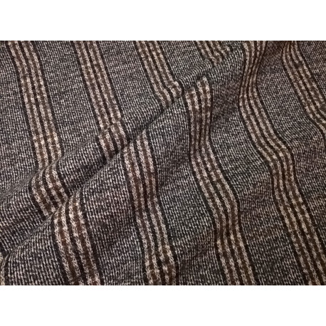 Elano - wełna - szara z brązową nitką kratka