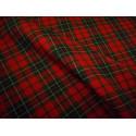 Krata szkocka - ciemna czerwień