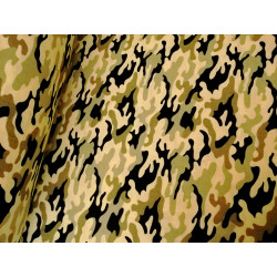 Bawełna na maseczki - beżowa - moro - maskująca
