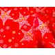 Tkanina obrusowa świąteczna - czerwono-złoto-biała