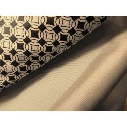 Tkanina ogrodowa z wzorem i gładka