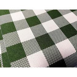 Kratka - biało-zielona 2,50 x 2,50 cm