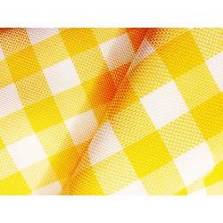 Kratka - biało-żółta 2,50 x 2,50 cm