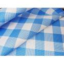 Kratka - biało-niebieska 2,50 x 2,50 cm