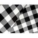 Kratka - biało-czarna 2,50 x 2,50 cm