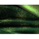 Tkanina obrusowa - świąteczna - zielono-złota - złote gwiazdy