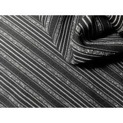 Elana ubraniowa - czarna w białe paski