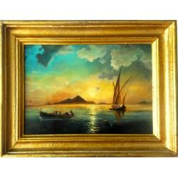 Obraz - Zatoka Neapolitańska 1841r