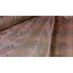 Tkanina obrusowa - róże - beżowa