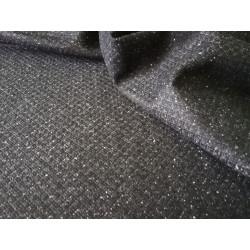 Elano-wełna - czarna z delikatnym wzorem